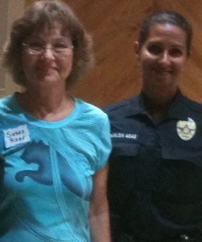 Senior Police Officer Surei Scanlon and Alumni Association Vice President Susan Reed